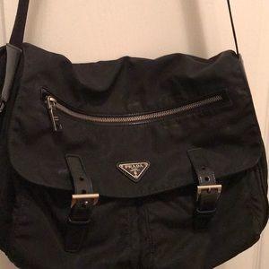 Prada Messenger Bag Black Nylon